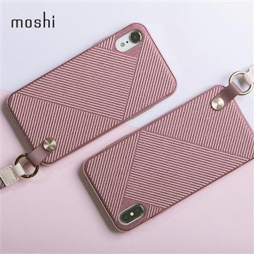 【iPhone XR】Moshi Altra 腕帶保護背殼 - 粉色