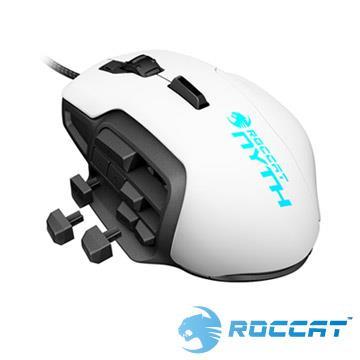 ROCCAT Nyth雷射電競滑鼠-白 Nyth MMO-W