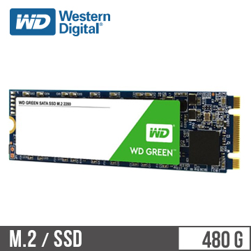 【480G】WD M.2 2280 SATA固態硬碟(綠標)