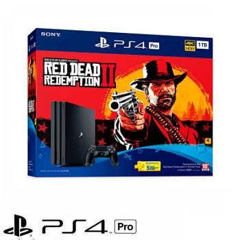 「同捆組」【1TB】PS4 Pro 碧血狂殺2 Red Dead Redemption 主機