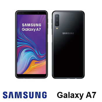 【4G / 128G】SAMSUNG Galaxy A7 6吋三鏡頭智慧型手機 - 黑色