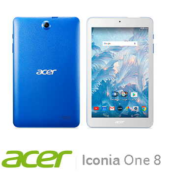 【WiFi版】宏碁 Acer Icoina One 8 16G平板電腦 - 藍色