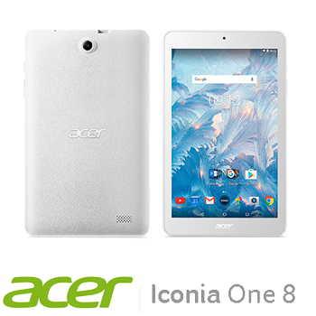 【WiFi版】宏碁 Acer Icoina One 8 16G平板電腦 - 白色