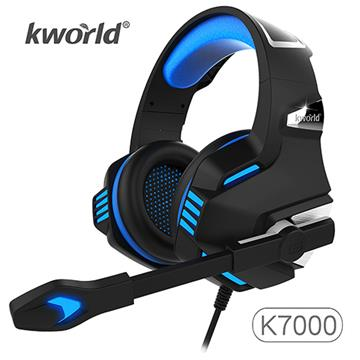 廣寰 K7000玩家電競耳麥 - 黑藍