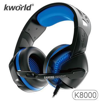 廣寰 K8000電競耳麥-黑藍