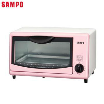 聲寶8L電烤箱-粉紅