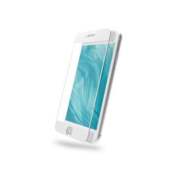 DIKE iPhone 7/8滿版鋼化玻璃保護貼-白