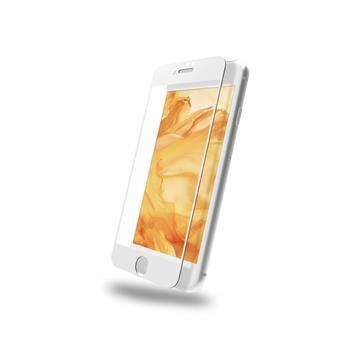 DIKE iPhone 7/8+滿版鋼化玻璃保護貼-白