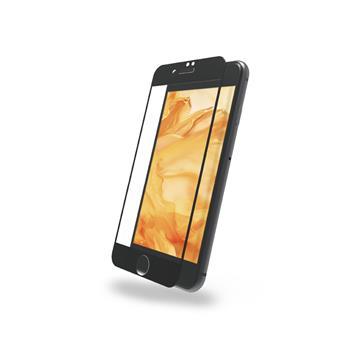 DIKE iPhone 7/8+滿版鋼化玻璃保護貼-黑