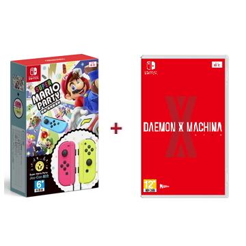 Nintendo Switch【超級瑪利歐派對  + Joy-Con + 機甲戰魔】