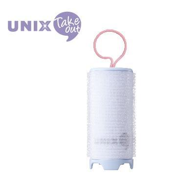 UNIX USB插電加熱38mm髮捲球 PW-5381TW 藍