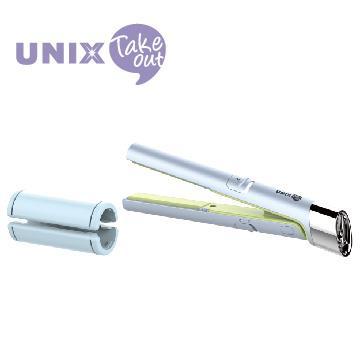 UNIX USB插電迷你兩用直髮器 UCI-A2774TW 藍