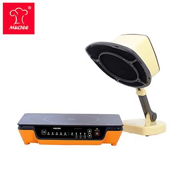 摩堤 小資成家D_A4 PLUS IH電磁爐 橘+移動雙濾網抽油煙機 黃