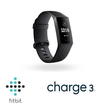 Fitbit Charge 3智慧手環 - 黑框黑錶帶 Charge3 BK