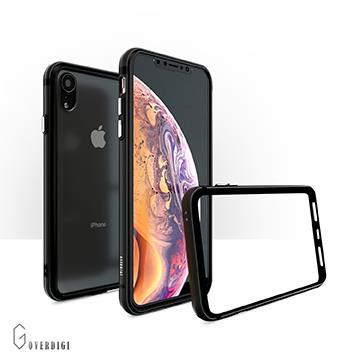 【iPhone XR】OVERDIGI 雙料鋁合金邊框-黑