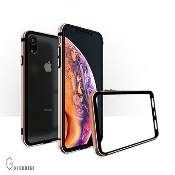 【iPhone XR】OVERDIGI  雙料鋁合金邊框-金