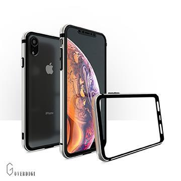 【iPhone XR】OVERDIGI 雙料鋁合金邊框-銀白