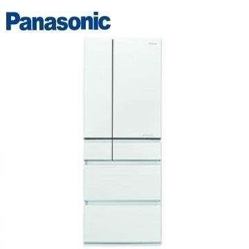 Panasonic 550公升六門變頻玻璃冰箱 NR-F554HX-W1(翡翠白)
