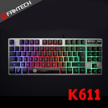 FANTECH K611鋁合金面板87鍵多彩燈效鍵盤