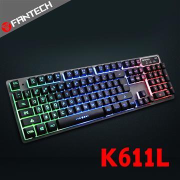 FANTECH K611L多色燈效鋁合金面板鍵盤 K611L