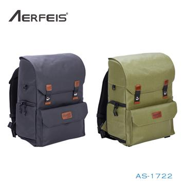 AERFEIS 阿爾飛斯 復古系列相機後背包 AS-1722-黑