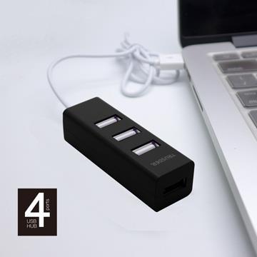 TRUSDER USB2.0 4PORT USB HUB(黑) TDH-234-BK