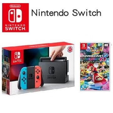 【限量網銷獨賣組C】-任天堂 Nintendo Switch 瑪利歐賽車8 豪華版 主機同捆組