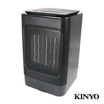 KINYO 迷你陶瓷電暖器(黑色)