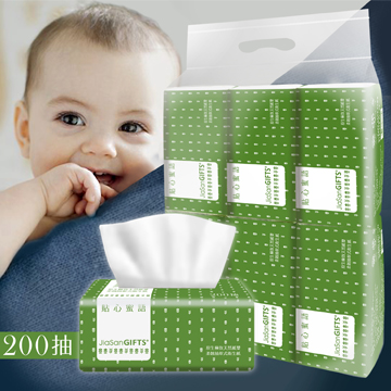 JiaSanGIFTS 原生200抽抽取式衛生紙1串(6包)