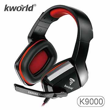 廣寰 K9000電競耳麥-黑紅