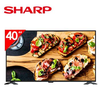 SHARP 40型FHD智慧聯網顯示器+視訊盒