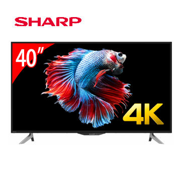 SHARP 40型4K智慧聯網顯示器+視訊盒 4T-C40AH1T