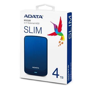 【4TB】威剛 2.5吋 行動硬碟(HV320藍)