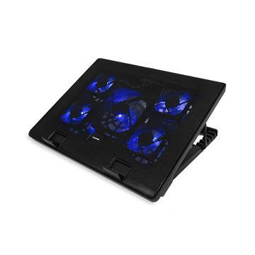 Esense E-C11 冷光五風扇筆電散熱墊-黑 22-WNF011BK