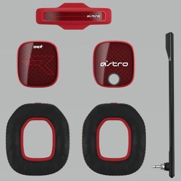 【福利品】羅技ASTRO A40電競耳麥配件組-烈焰紅