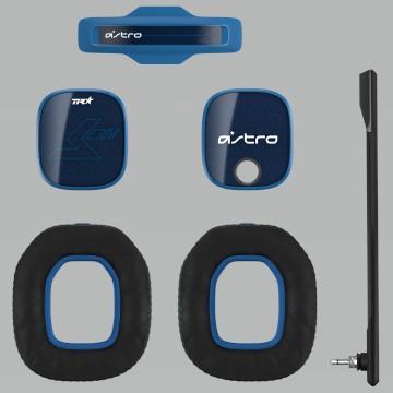 (福利品)Logitech羅技ASTRO A40電競耳麥配件組 風暴藍