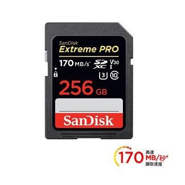 SanDisk ExtremePro 256G 記憶卡170Mb/s