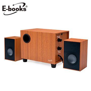 E-books D27重低音2.1聲道木質多媒體喇叭
