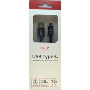ORIP Type-C USB 5Gbps傳輸充電線 OCC-A3015