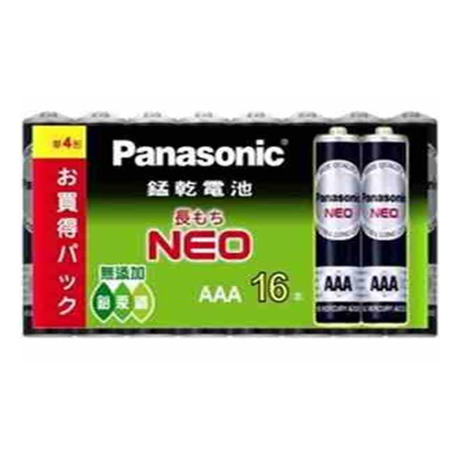國際牌Panasonic 錳乾電池3號16入