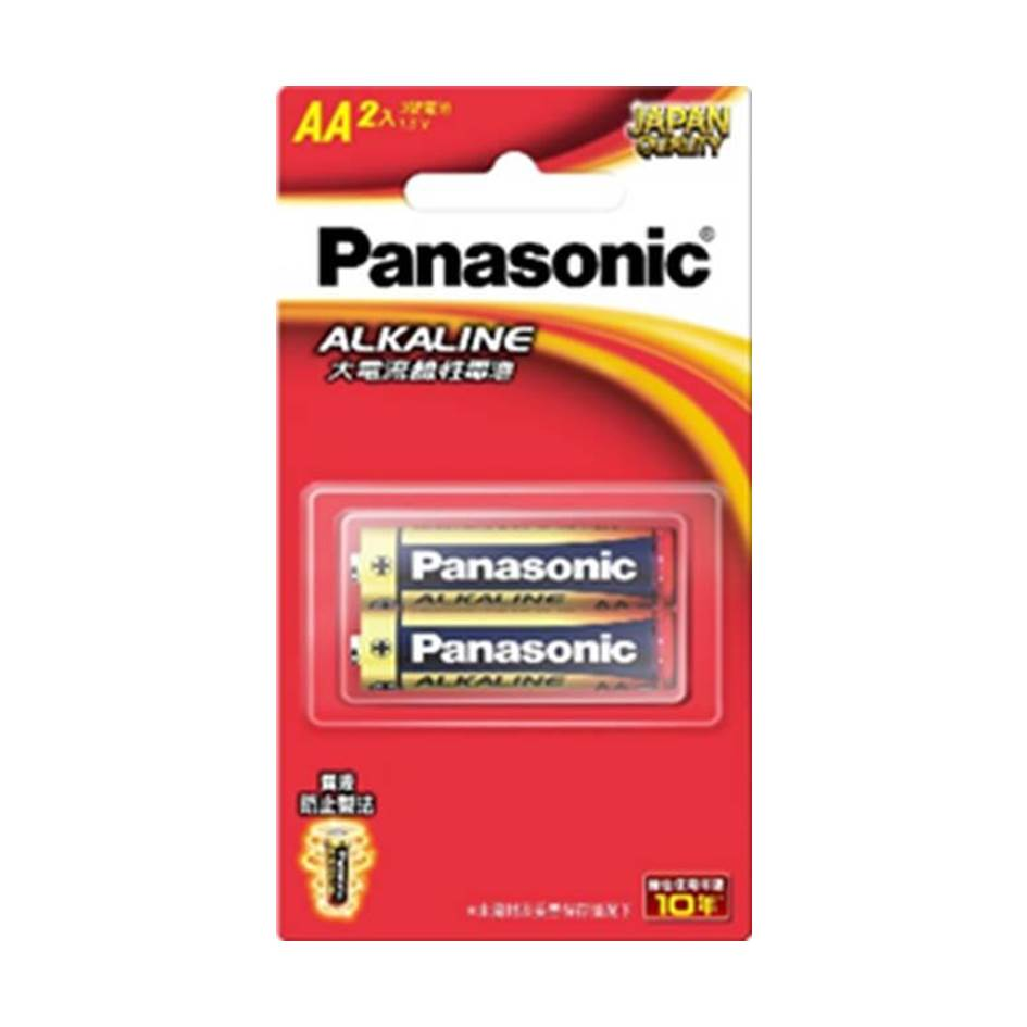 Panasonic 大電流鹼性電池3號2入