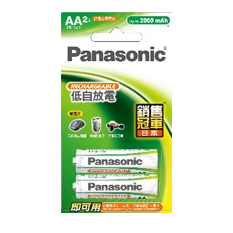 國際牌Panasonic 標準型充電電池3號2入