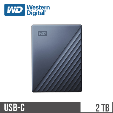 WD 2.5吋 2TB行動硬碟My Passport Ultra藍