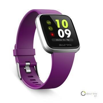 About Time A1健康智慧手錶-紫