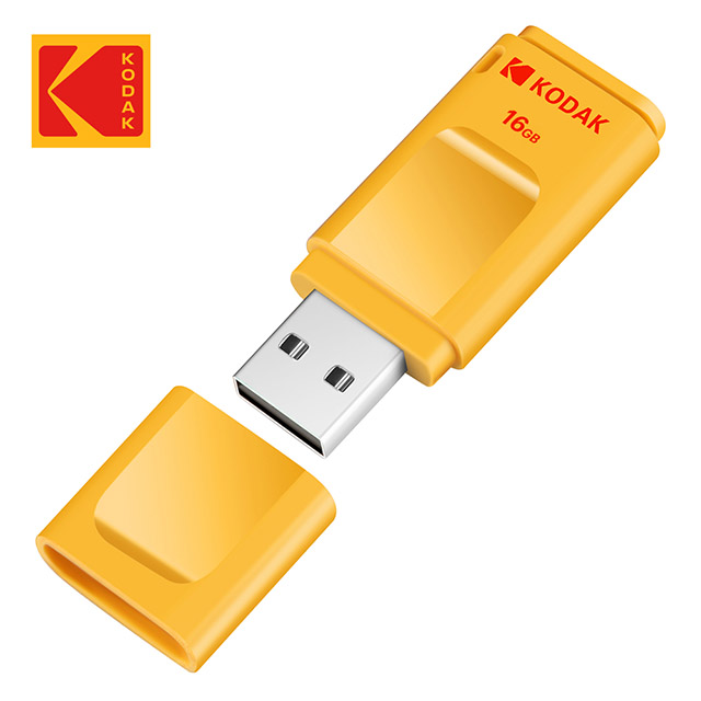 Kodak K232 16G隨身碟-黃