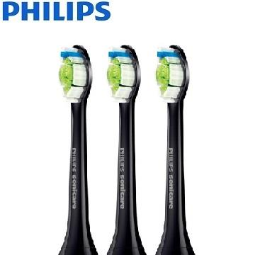 飛利浦Philips 智能鑽石標準型刷頭三入組(黑)