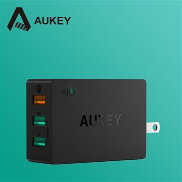 AUKEY PA-T14 QC3.0 3孔充電器 PA-T14