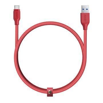 AUKEY CB-AC1 Type-C 傳輸充電線1.2M-紅