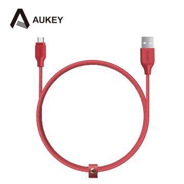 AUKEY CB-AM1 MicroUSB 傳輸充電線1.2M-紅