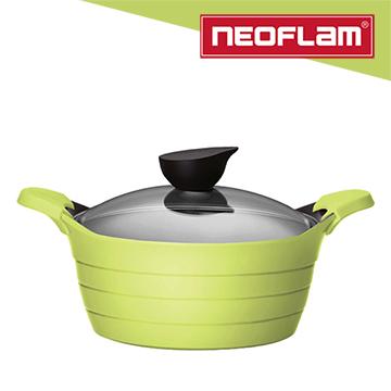 韓國NEOFLAM EELA系列 24cm陶瓷不沾湯鍋